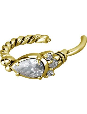 torsade 1,2mm baroque Crystal