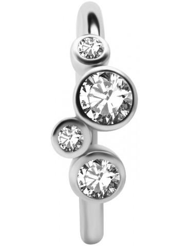anneau cristal 4 cristal  ronds