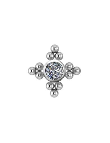 Cluster Titane Zircon Swarovski