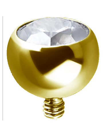Boule Titane Gold Sertie...