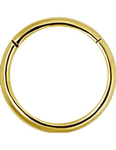 """anneau click""""s doré"""