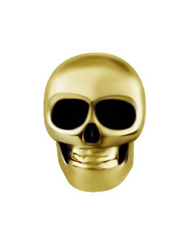 Skull Acier 316L Gold