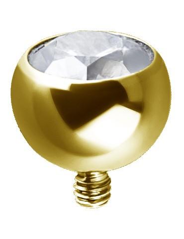 Micro boule titanium doré