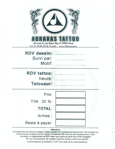 Prise de Rdv Tattoo