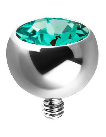 Dermal Cristal Ball Titane