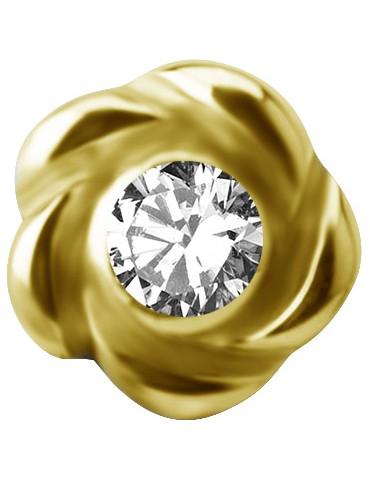 FLORAL or 18 carat