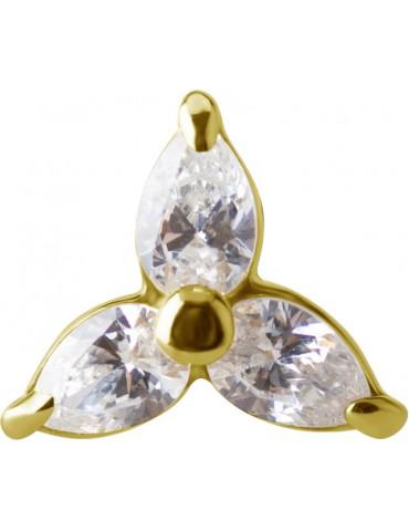 Trinity Flower or 18 carat