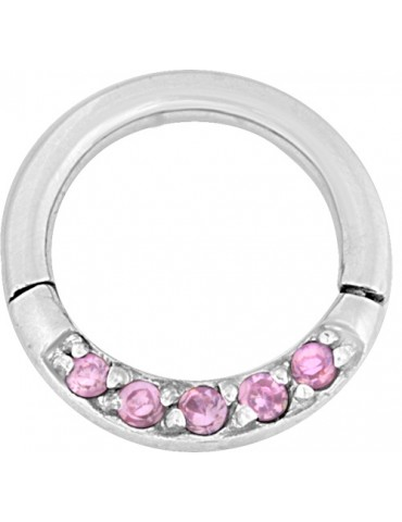 Bijoux Clicker Multi Crystal acier chirurgical (316L)
